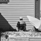 La grand-mère à la plage....