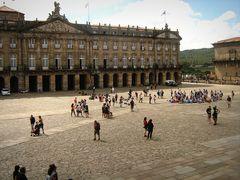 La grande piazza di Santiago de Compostela...