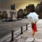 La lluvia y el paraguas...