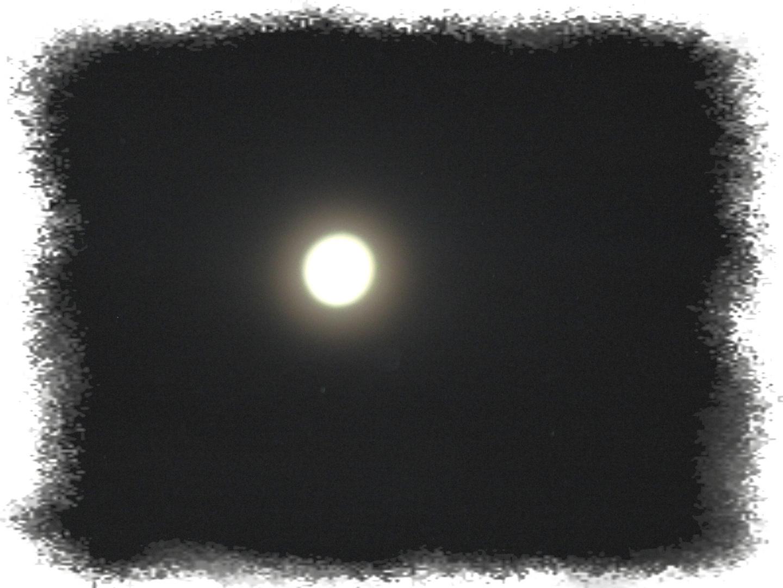 La luna con l'alone