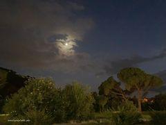 La luna e Giove