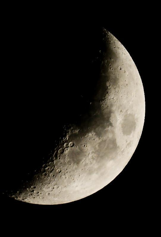 La lune dans la lunette