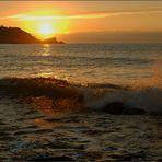 La luz a través de la ola
