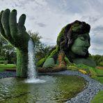 la main de Gaïa, la Terre-mère, déverse la vie