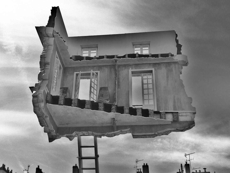 La maison en suspension (en 3 dimensions)