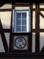 La maison Obertorstraße 2 à Runkel (Hesse, Allemagne) - Vue de détail