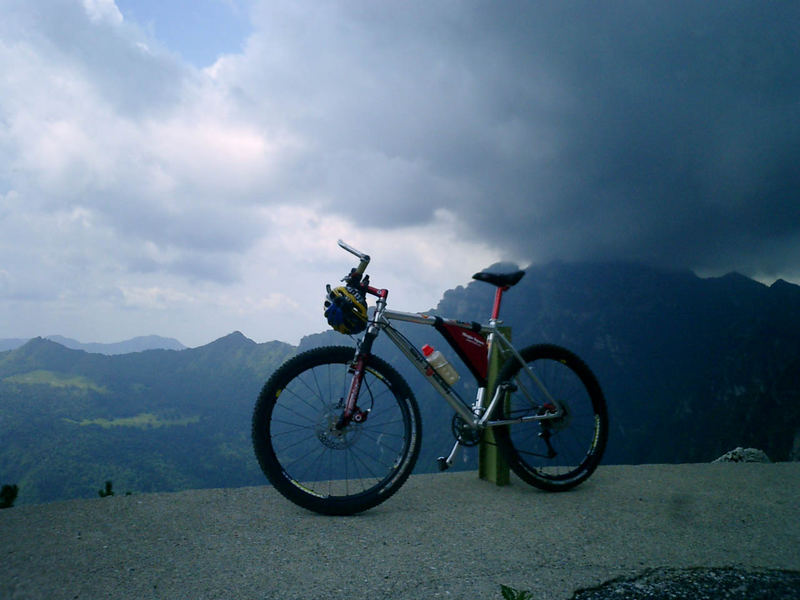 la mia mountain bike.