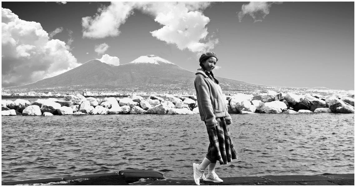 La neve sul Vesuvio