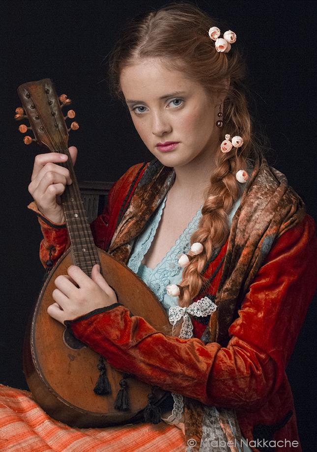 La niña de la mandolina