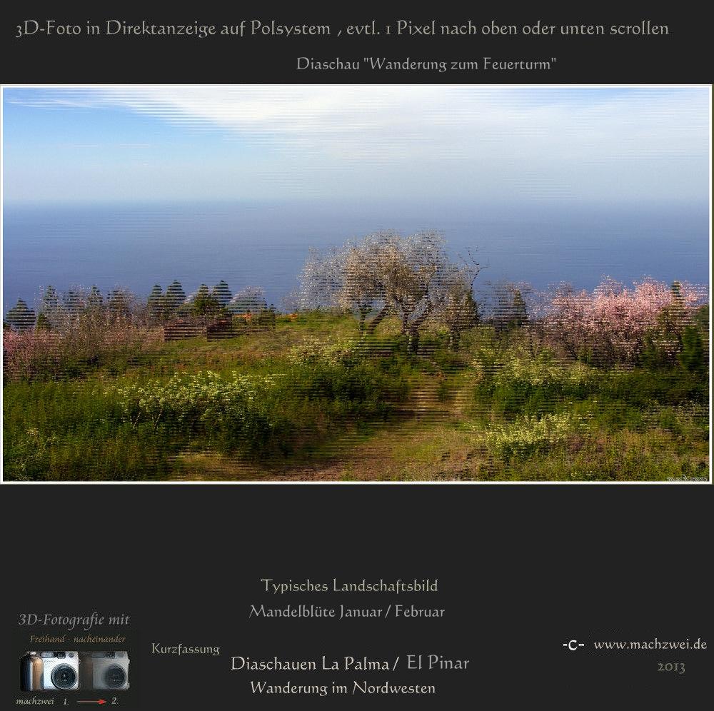 La Palma: 3D Diaschau direkt für Polfilterbrillen