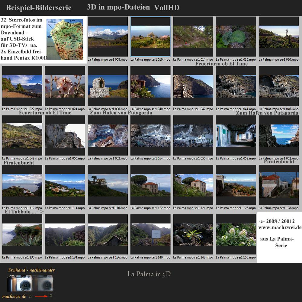La Palma in 3D: 32x mpo-VollHD zum Download für 3D-TV