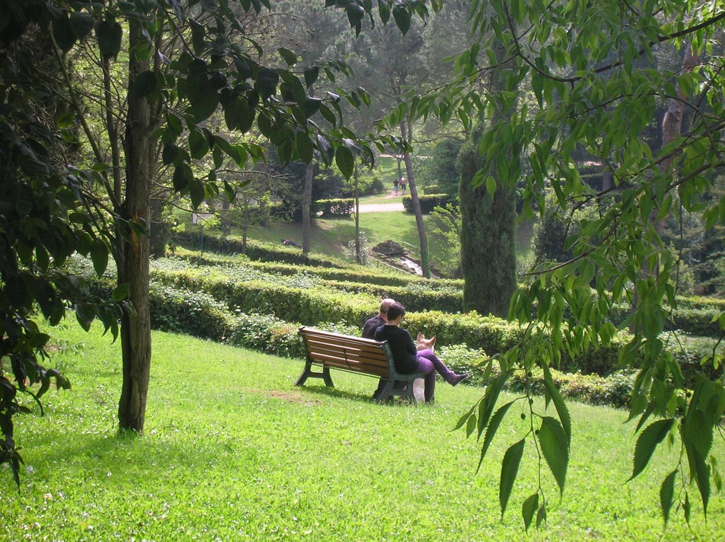 La panchina nel parco