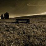 la panchina nel silenzio