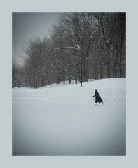La patineuse au long manteau