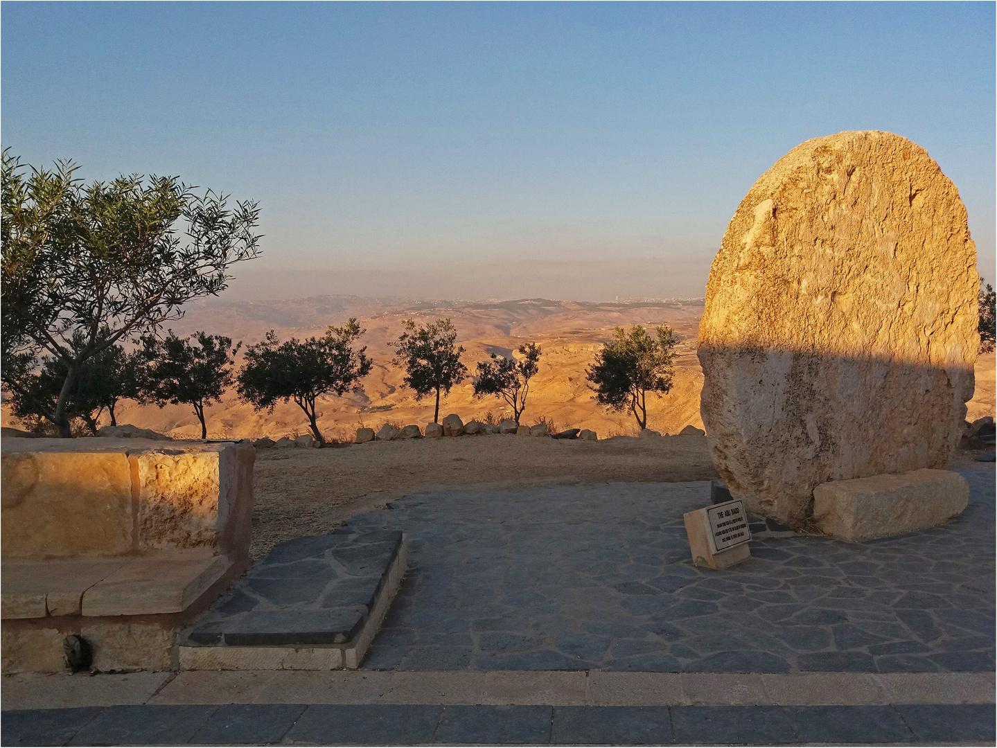 La pierre « Abu Badd » au Mont Nebo