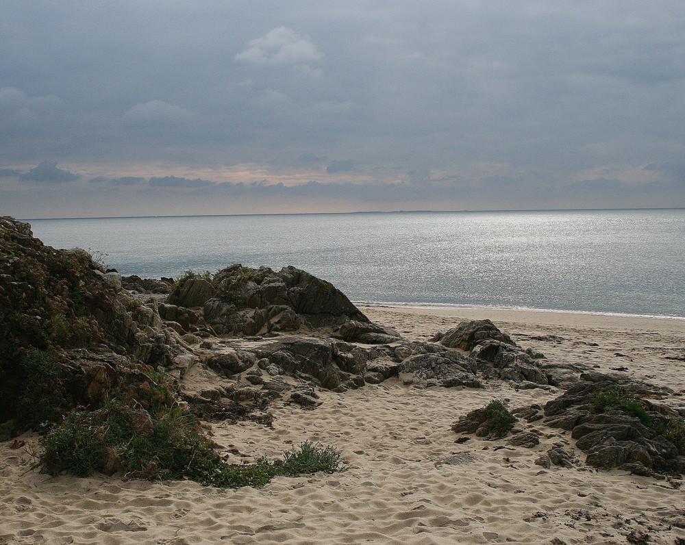 la plage du Fogeo à Arzon (Morbihan)