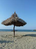 La playa.