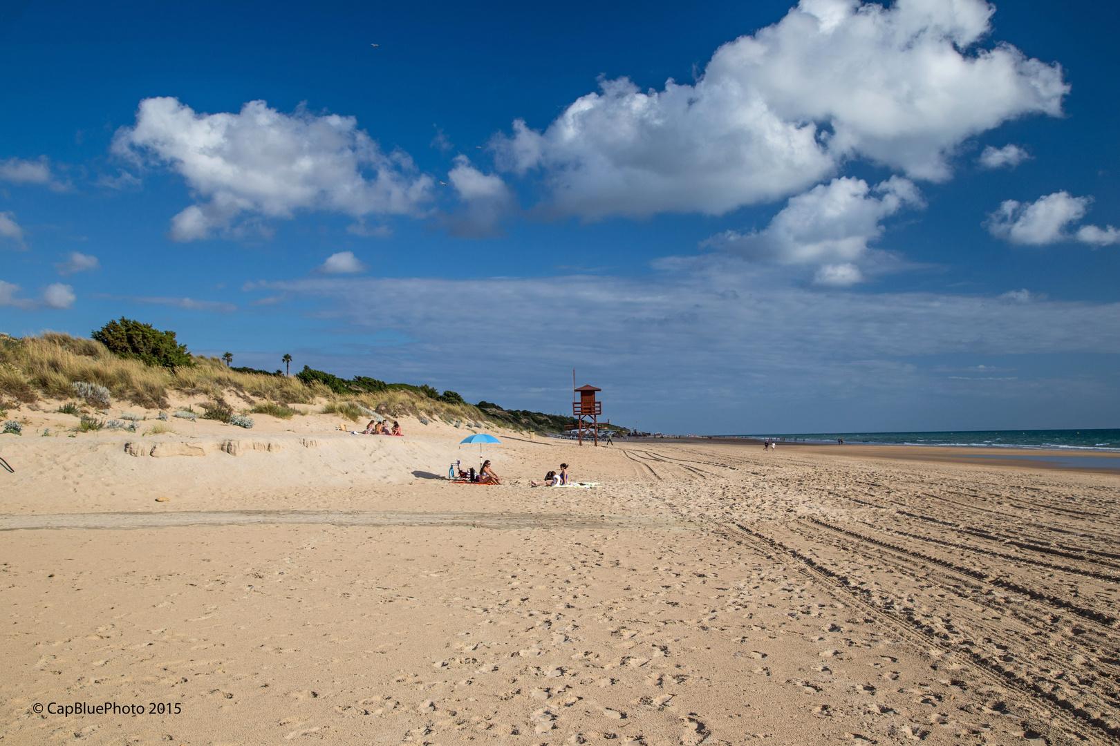 La Playa Barrosa Strand Richtung Conil de la Frontera