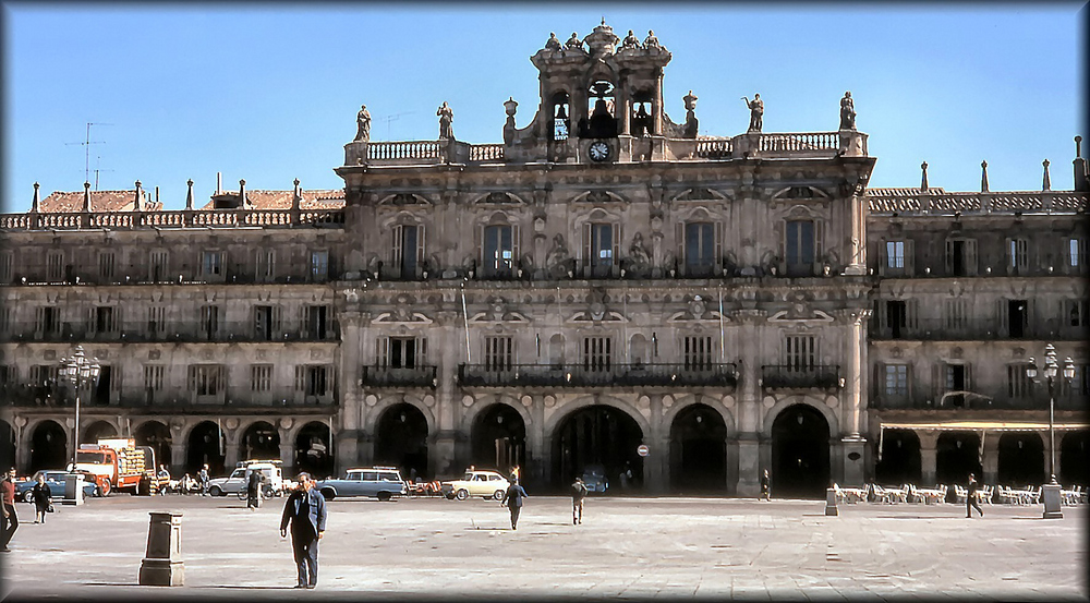 La plaza mayor de Salamanca.