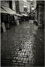 La pluie: ruelles vides