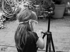 La posible futura fotógrafa...