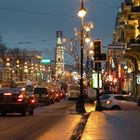 La prospettiva Nevskij all'alba