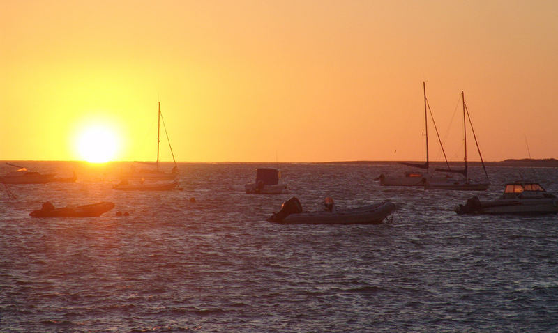 La puesta de sol en Sanlúcar de Barrameda