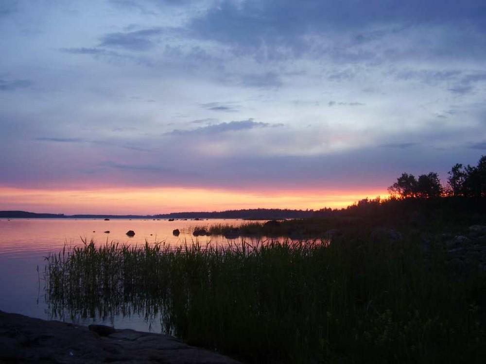 La puesta del sol el 1 de julio 2008