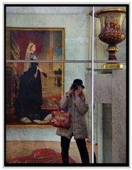 la regina e ...io al museo...