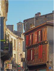 La rue Charron vue de la Place du Lion d'Or