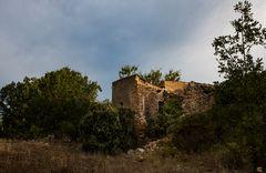 La ruine dans le soleil couchant