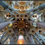 La Sagrada Familia - Blick nach oben