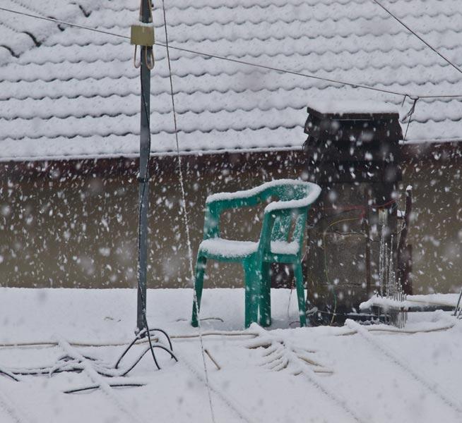 La sedia del pupazzo di neve!