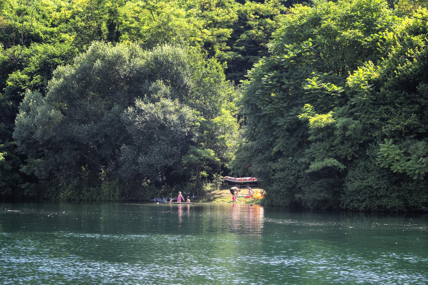 La spiaggetta, fiume Adda