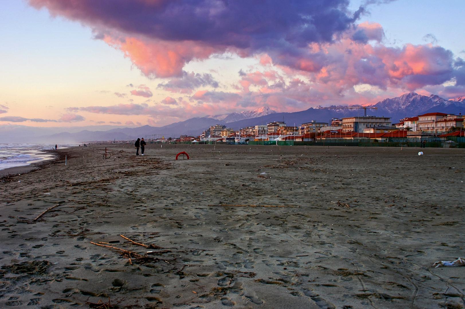 La spiaggia della Versilia in Inverno