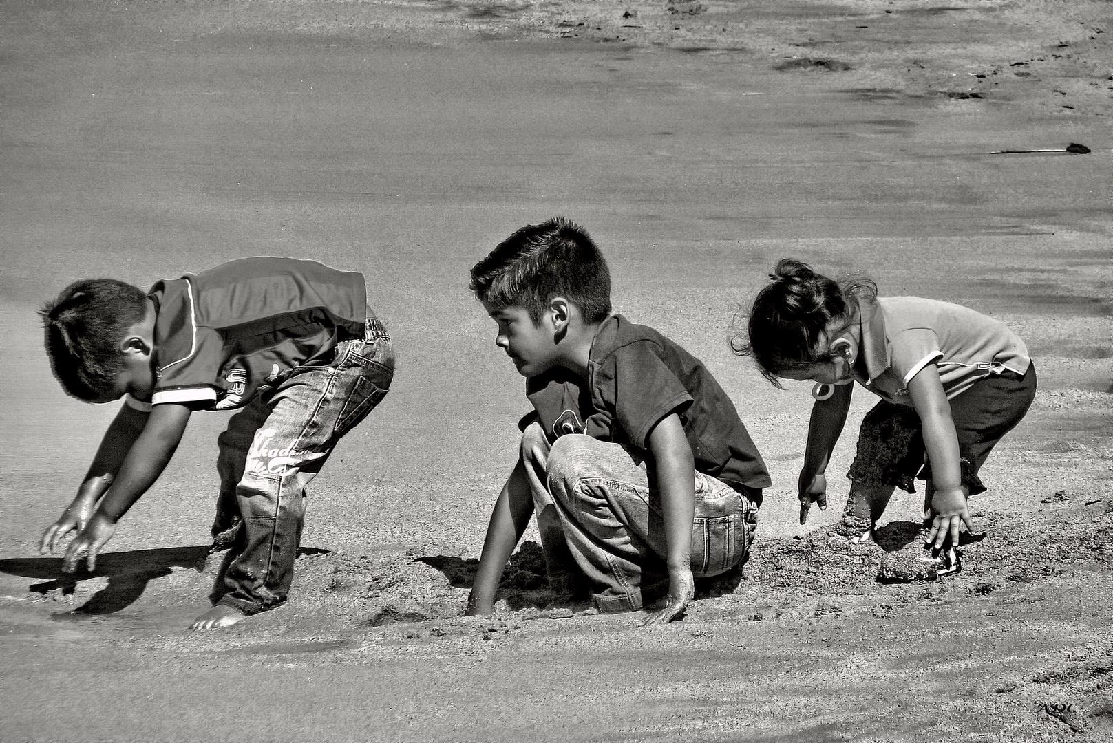 la terre et les enfants