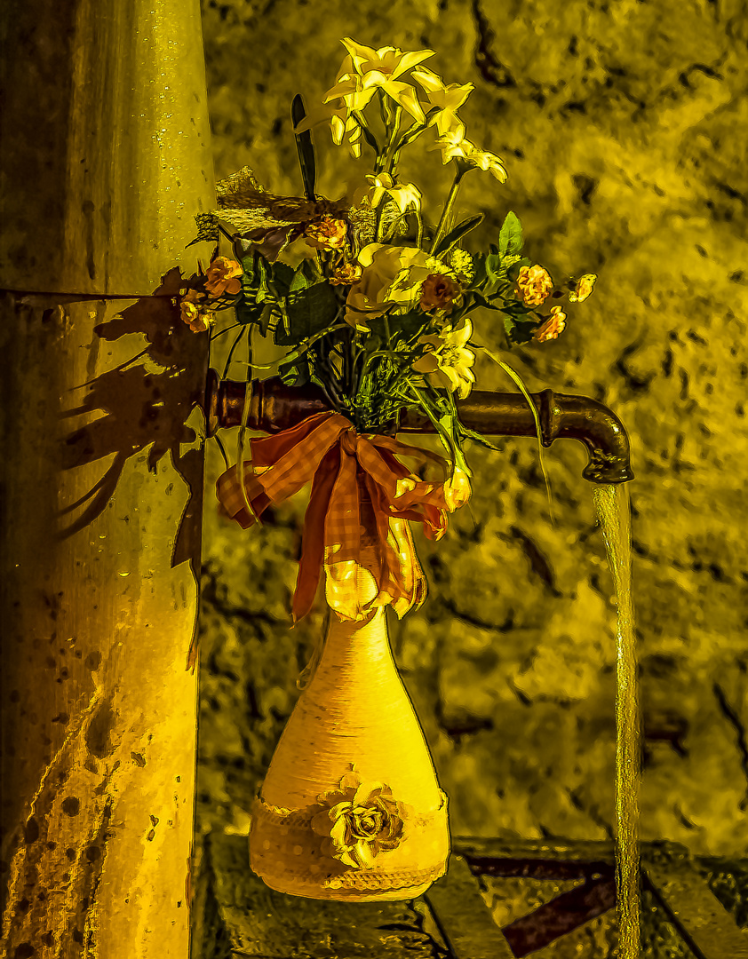 La Tine di Pourrieres by night