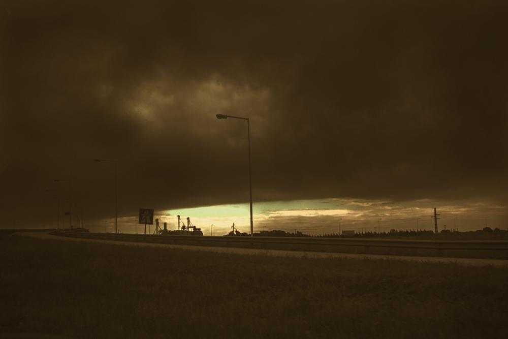 La tormenta... está ahí...