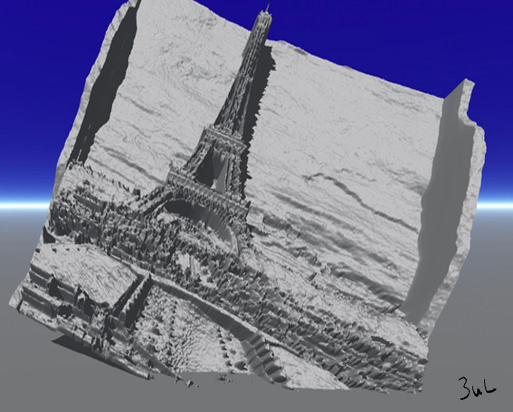La Tour Eiffel ensablée