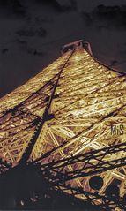 La Tour Eiffel.  Illuminations Pierre Bideau