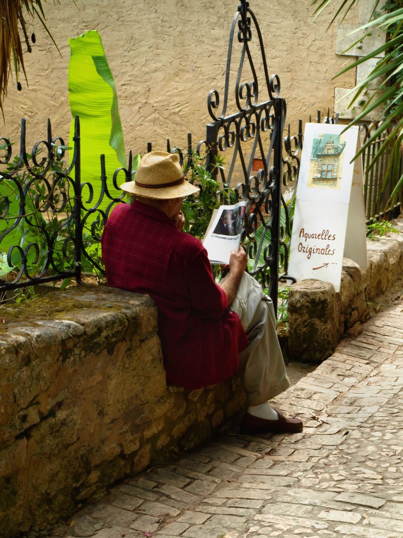 La tranquillité au coin d'une ruelle