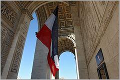 La Tricolore im Arc de Triomphe