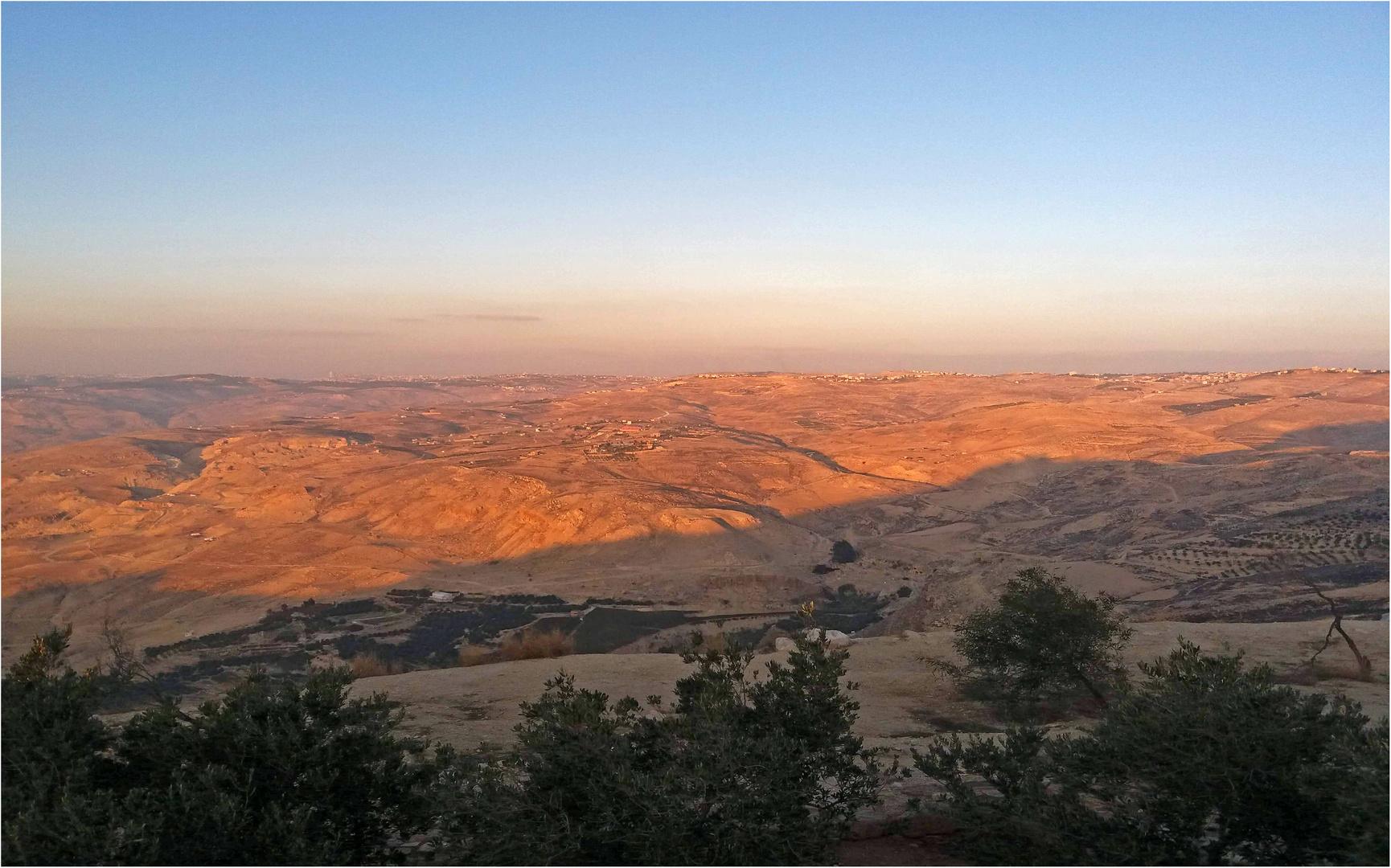 La vallée du Jourdain vue du Mont Nebo