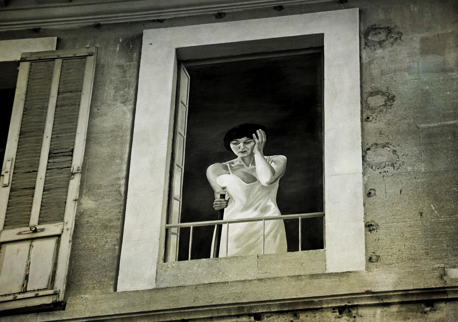 ...la ventana...