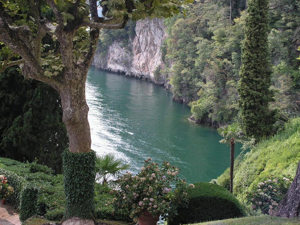 La villa Balbianello, au bord du lac de Côme, en Italie