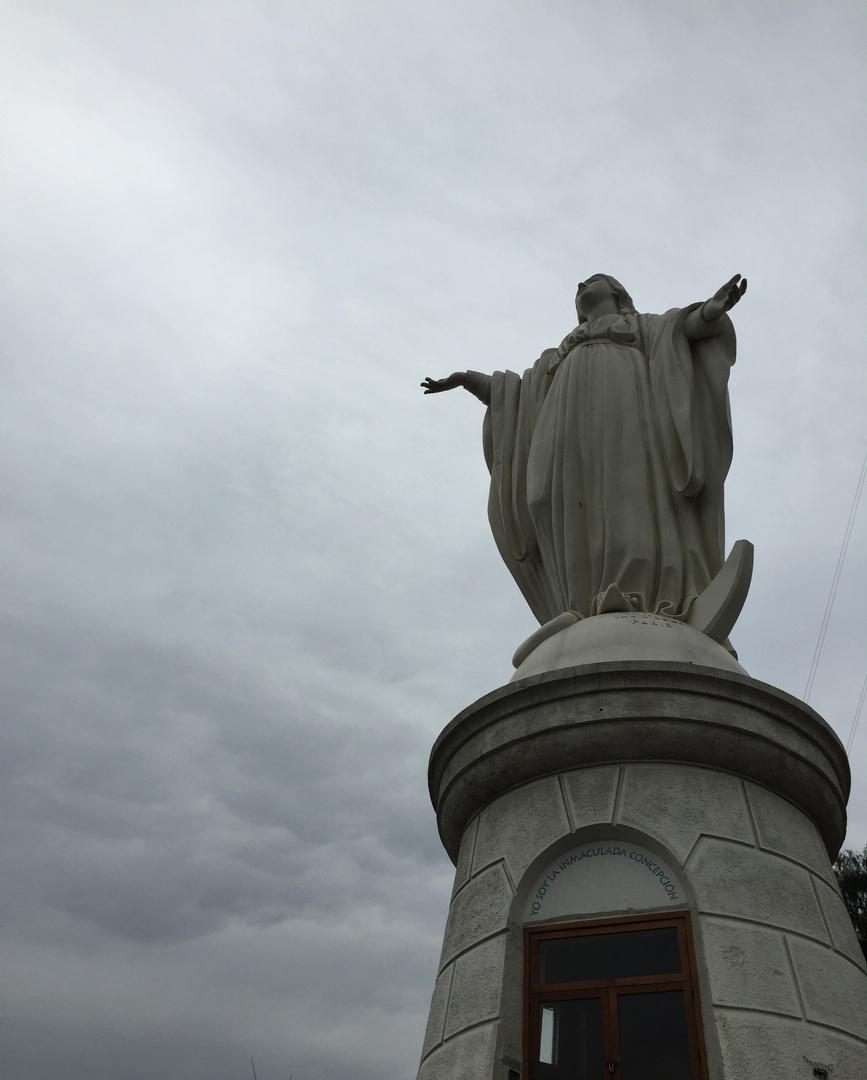 La Virgen del San Cristobal en Santiago