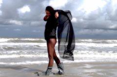 Laarzen op het strand
