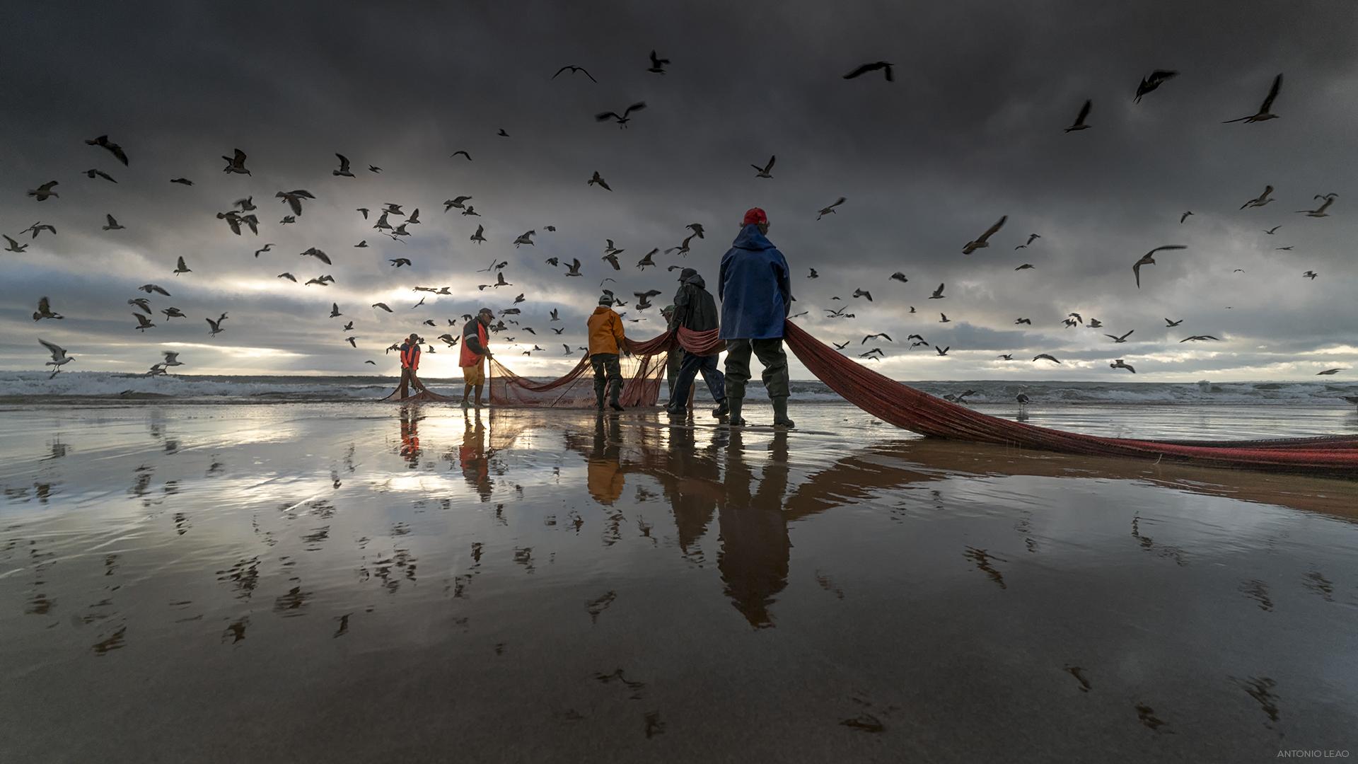 labor on the beach