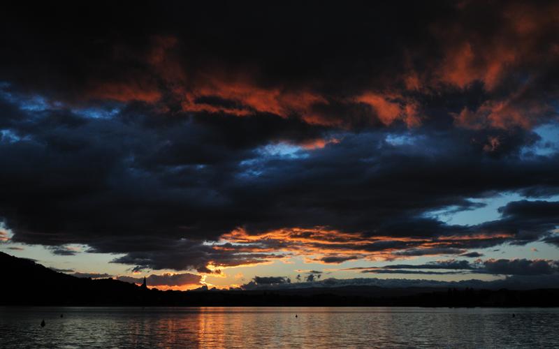 Lac d'Annecy ce soir