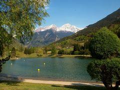 lac de bozel au pied de la vanoise, savoie